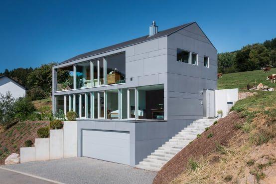 Hanghäuser Modern einfamilienhaus hanghaus klaus modern edelstahlpool