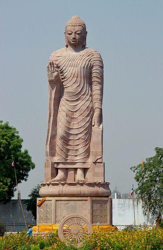 buddha statue sarnath varanasi uttar pradesh india indian