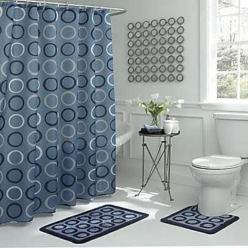 Walmart Shower Curtain Bathroom Rug Set With Images Light Blue
