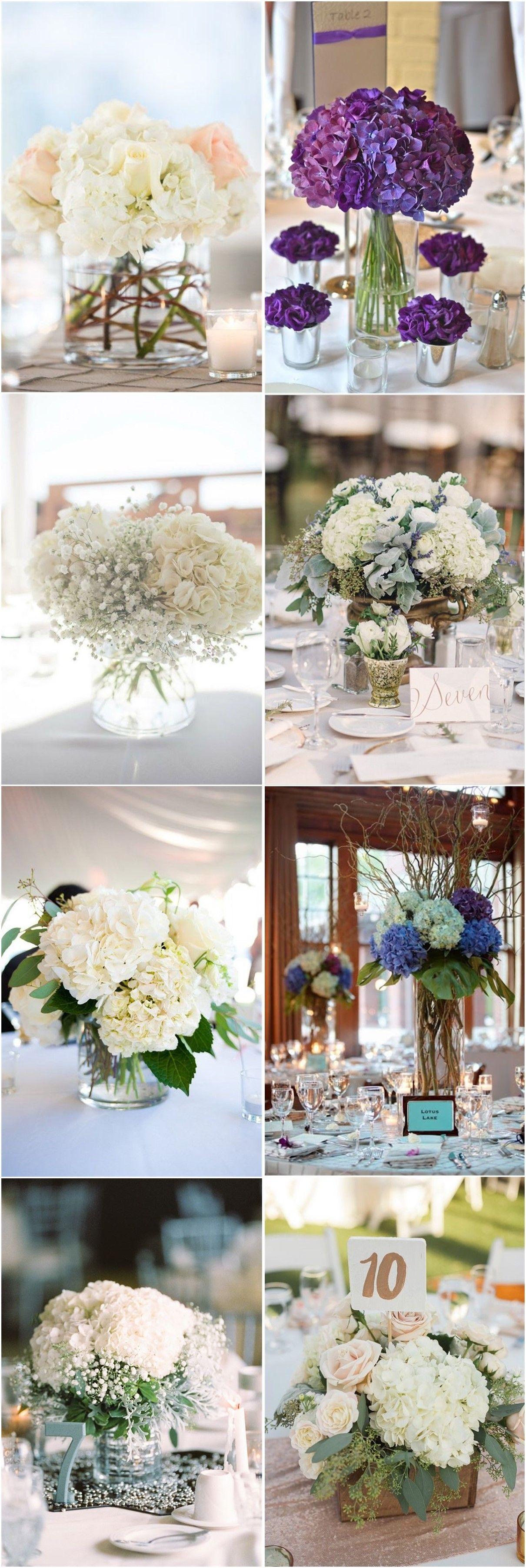 21 Simple Yet Rustic DIY Hydrangea Wedding Centerpieces Ideas ...