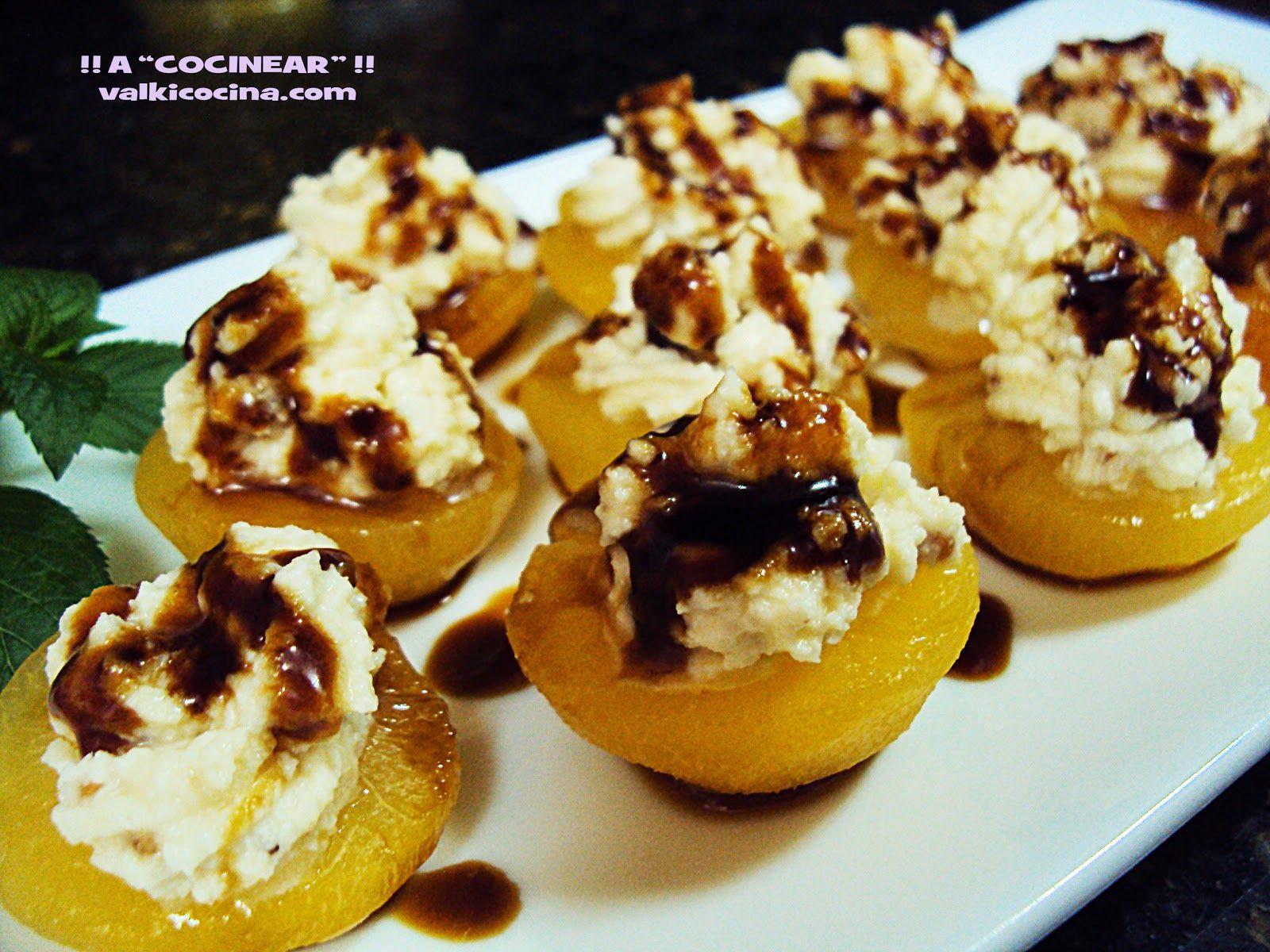 Albaricoques Rellenos De Queso Mascarpone Y Almendra Crocanti Recetas De Comida Milhojas Natillas