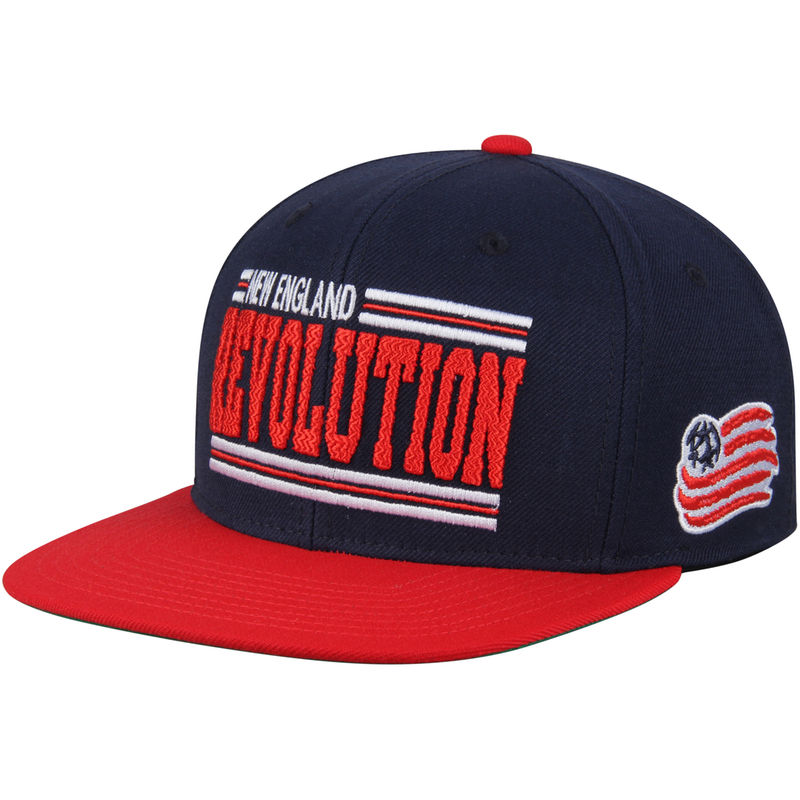 new products 23310 6fc92 New England Revolution Mitchell   Ness Between The Lines Snapback Adjustable  Hat - Navy