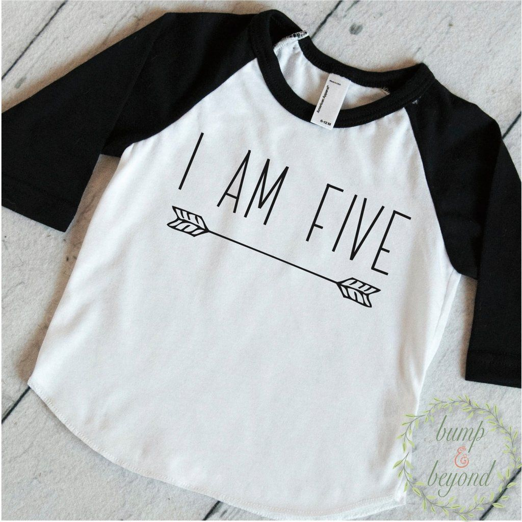 Five Year Old Birthday Shirt Boy 5 Years Outfit Raglan Toddler 5th Hipster Clothes Modern Arrow 130