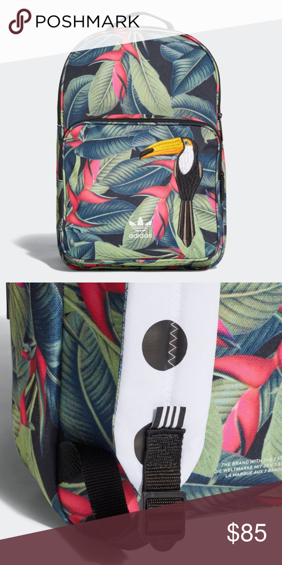 6a0c43ea4b5 Adidas Originals Classic Backpack CE5640 Tucan CLASSIC BACKPACK - BRAND NEW  WITH TAGS AN ALL-PURPOSE BACKPACK WITH A WILD DESIGN BY THE FARM COMPANY.