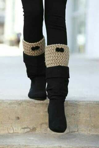 Mini polaina para usar com bota | croche | Pinterest