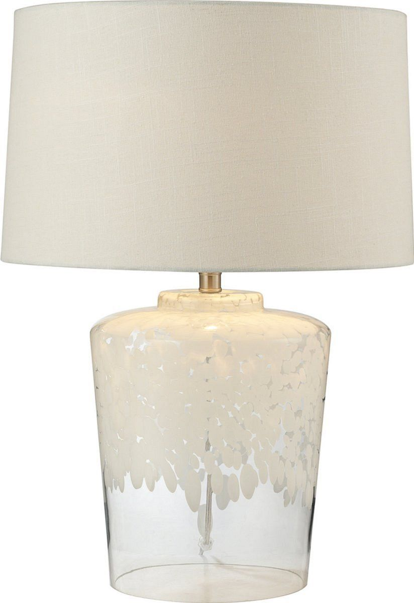 25 H Flurry Frit Well 1 Light 3 Way Table Lamp White Clear Lamp Glass Table Lamp Clear Glass Table Lamp 3 way table lamps