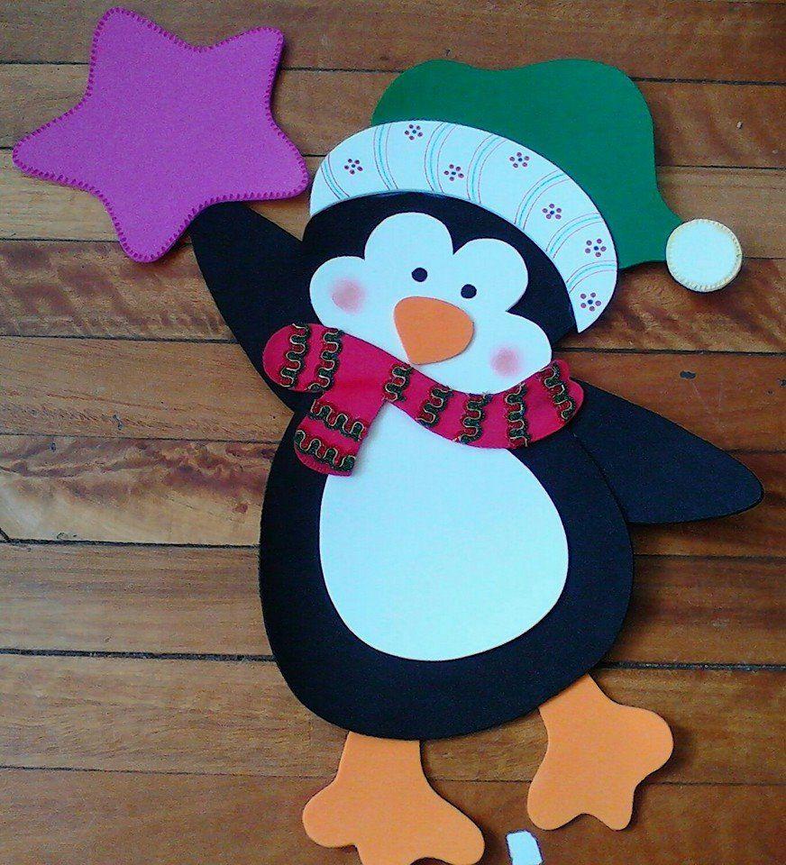 Penguin Navidad Pinterest Navidad Goma Eva Navidad Y