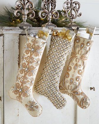 Beaded+Christmas+Stockings+by+Kim+Seybert+at+Neiman+Marcus.