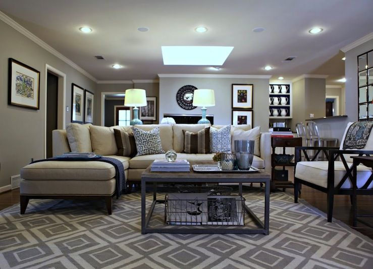 Knightmovesblogblogspot Beautiful Living Room Design With Gray Jonathan Adler Diamonds Rug