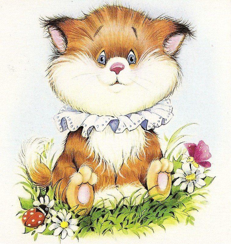 Открытки с котятами прикольные нарисованные, открытку днем рождения