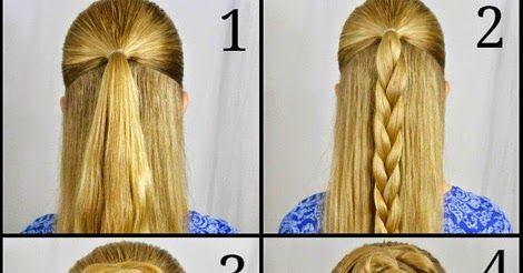 Stupendous Bun Hairstyles Rose Braid And Hairstyle Tutorials On Pinterest Short Hairstyles Gunalazisus