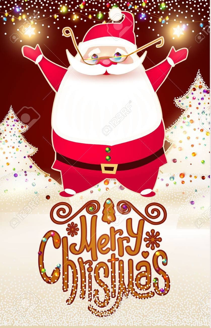 Free Photo Christmas Card Templates Smiling Santa Claus Chr Photoshop Christmas Card Template Christmas Photo Card Template Free Christmas Photo Card Templates