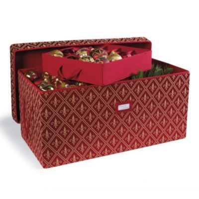 High Quality Ornament Storage Trunk   Serves Several Purposes And Customizable Dividers
