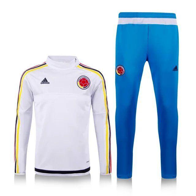 Survetement de foot 2015 2016 Colombie Blanc  dcc0eb91d4b