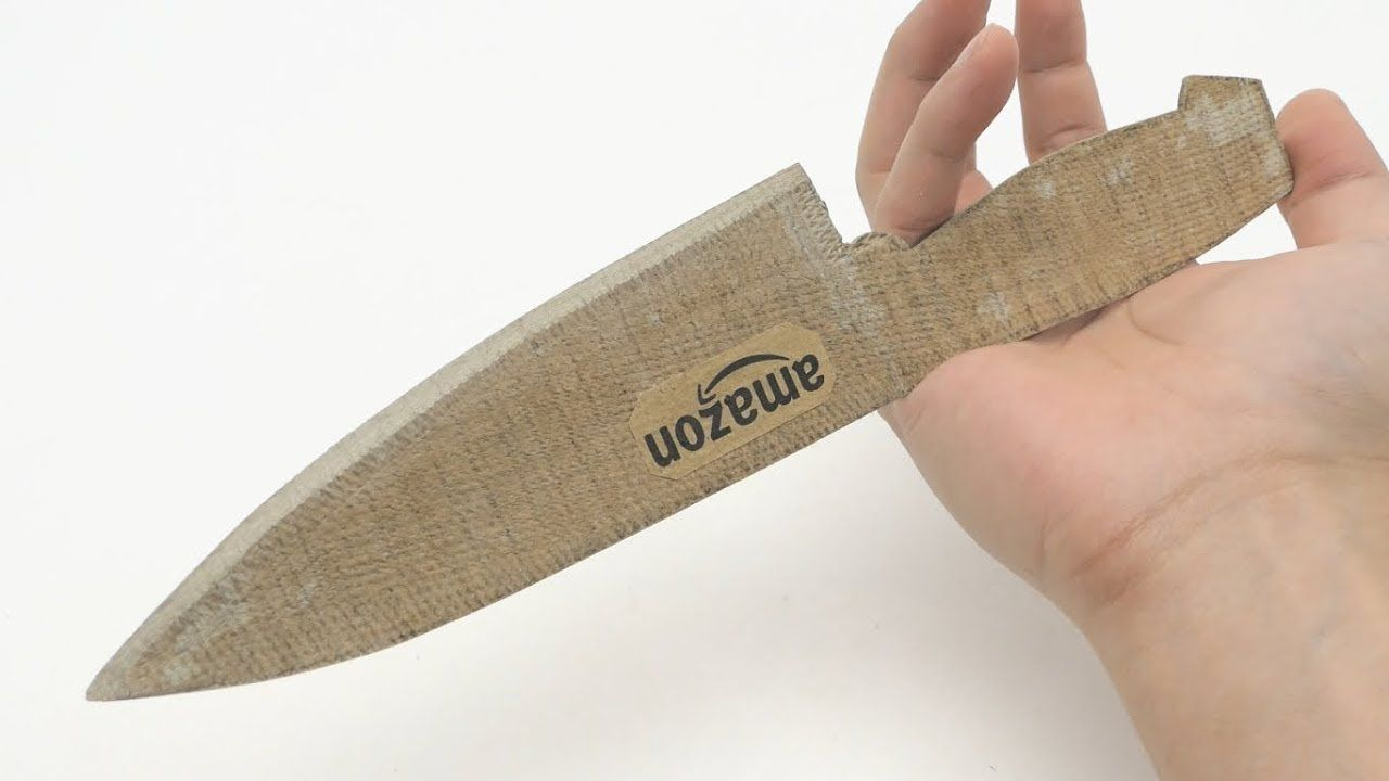 sharpest Cardboard kitchen knife in the world | FINISHES ...