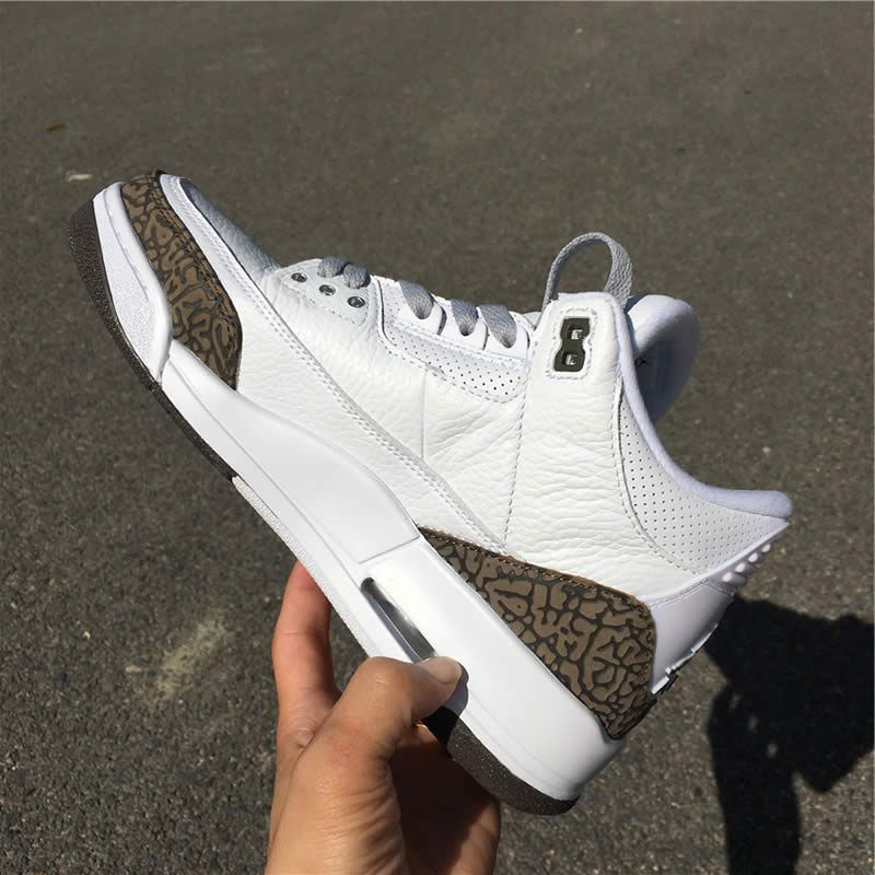 best service de6a0 e3b8a air jordan 3 mocha 2018 white chrome dark brown 136064 122 detail images (5)