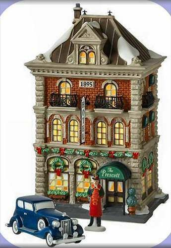 Maison Village Noel Prescott Hotel NEW Department Dept. 56 Christmas In The City