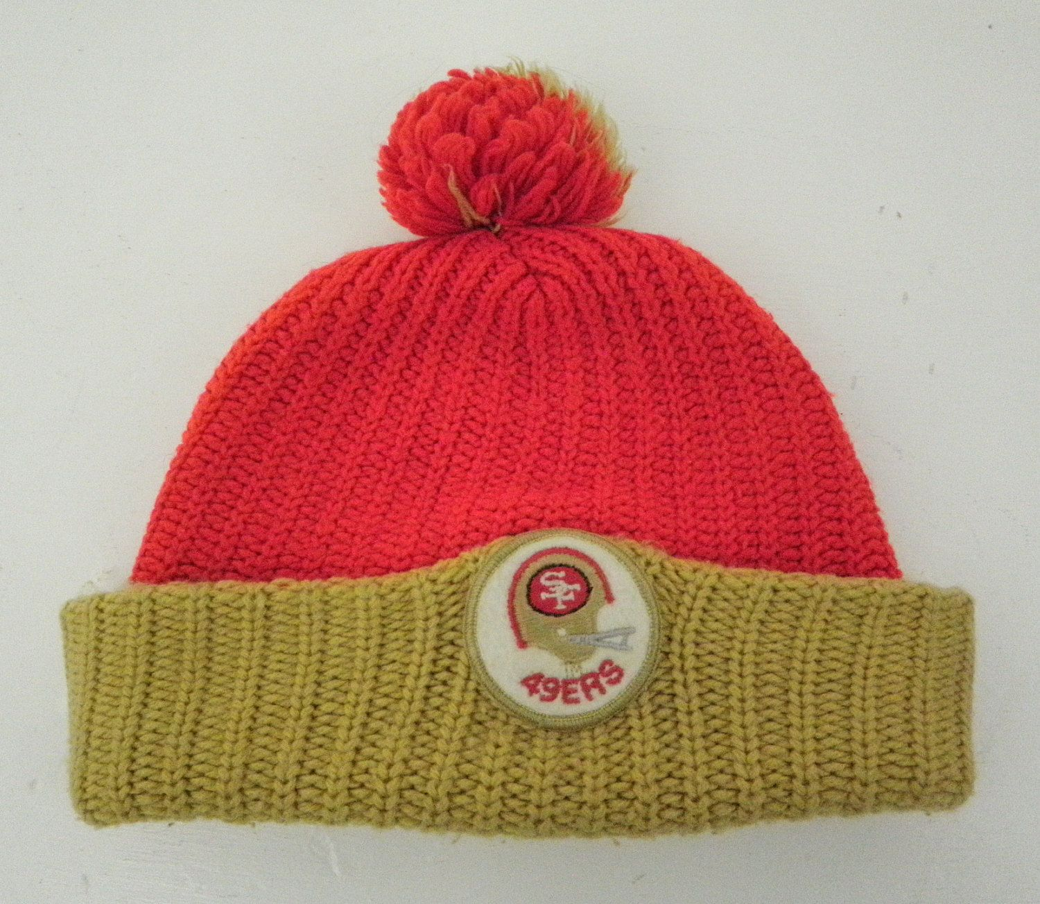 6c982ec44c6 San Francisco 49ers Pom Pom Ski Hat Beanie Patch Vintage Knit Winter Cap by  TraSheeWomen on Etsy  sanfrancisco  49ers  niners  football  vintage  hat  ...