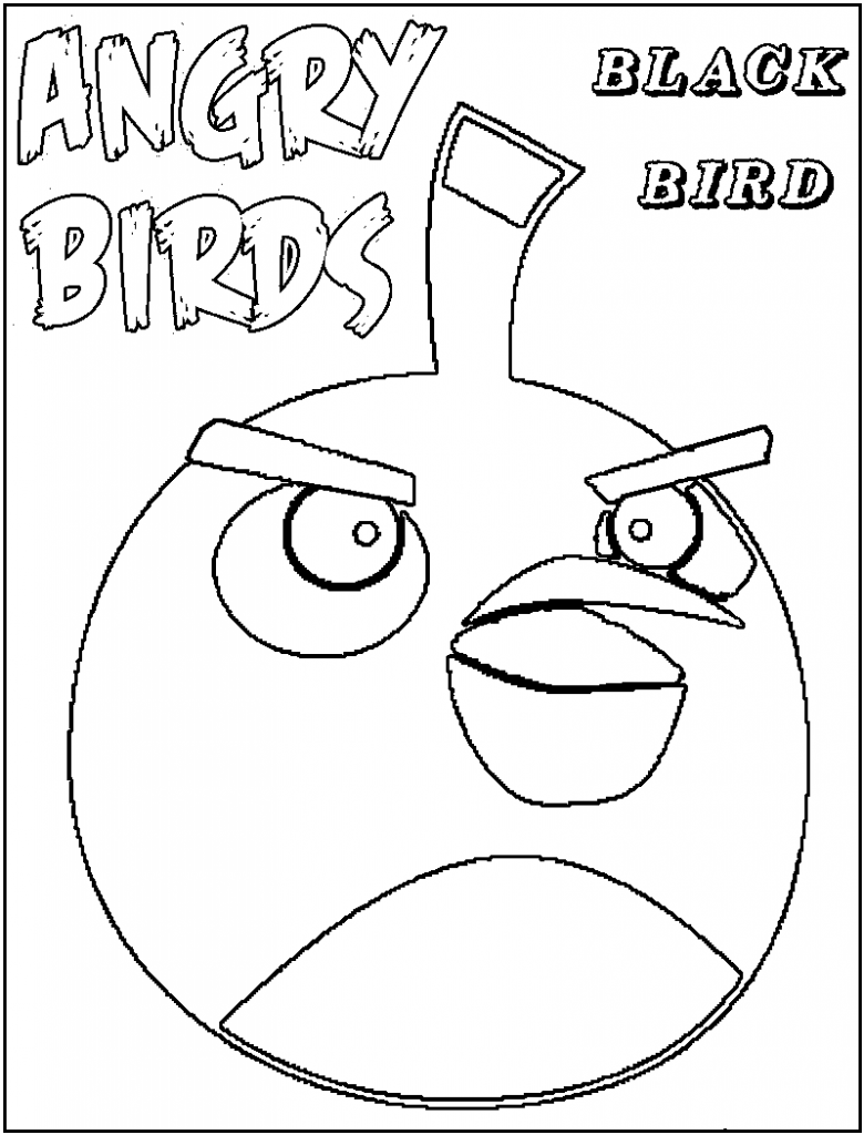 Free Printable Angry Bird Coloring Pages For Kids | Angry birds ...