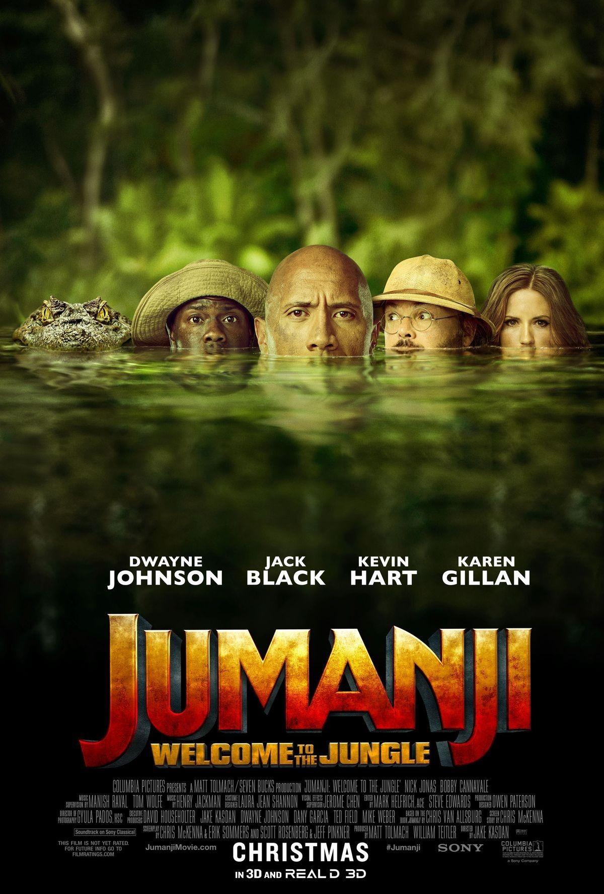 Jumanji Dwayne Johnson Jack Black Kevin Hart And Karen Gillan 2017 Film