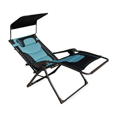 Wilson Fisher Black Teal Oversized Padded Zero Gravity Chair With Canopy Big Lots Gravity Chair Zero Gravity Chair Zero Gravity