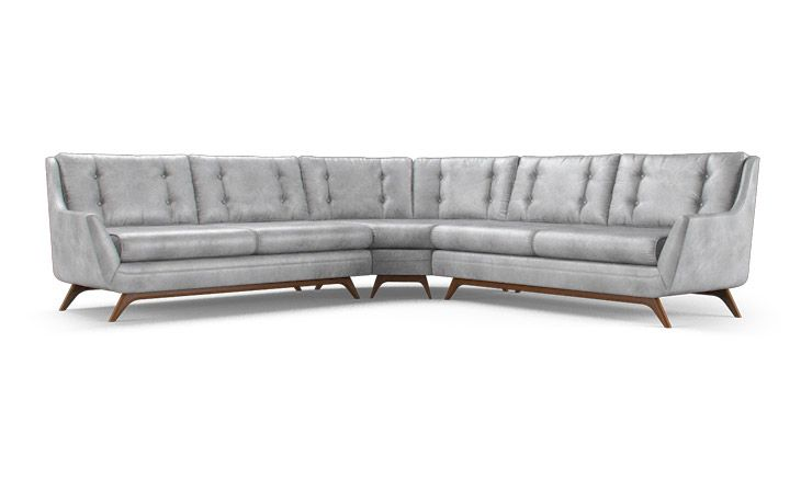 Eastwood Leather Round Corner Sectional
