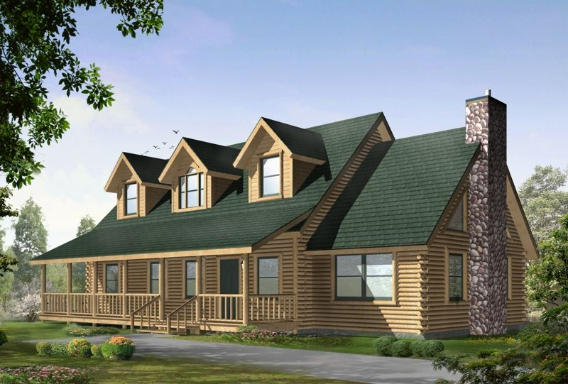 All American Homes lake view (plan a) floorplan of all american rustic collection