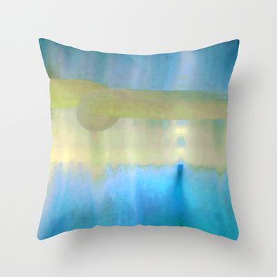 Hush, Blue Throw Pillow by Betty Mackey - $20.00