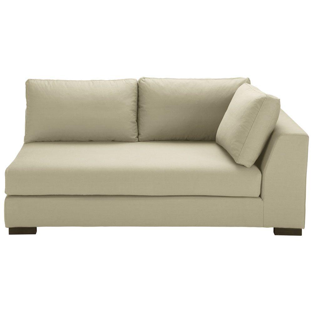 Angle droit de canap lit en coton beige canap cuir pas Canape lit convertible pas cher