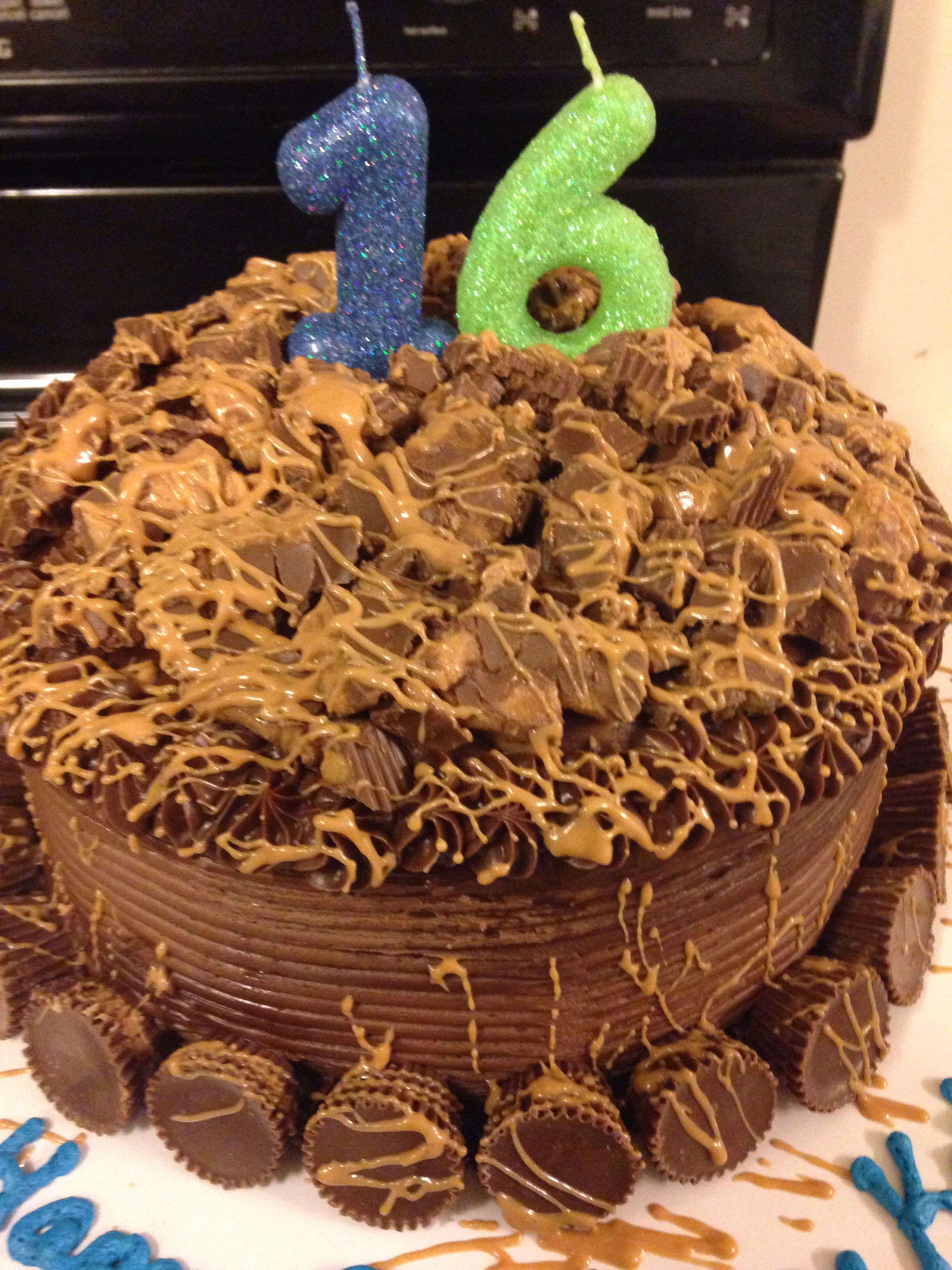 Reese cup overload cake reeses cups cake custom cakes