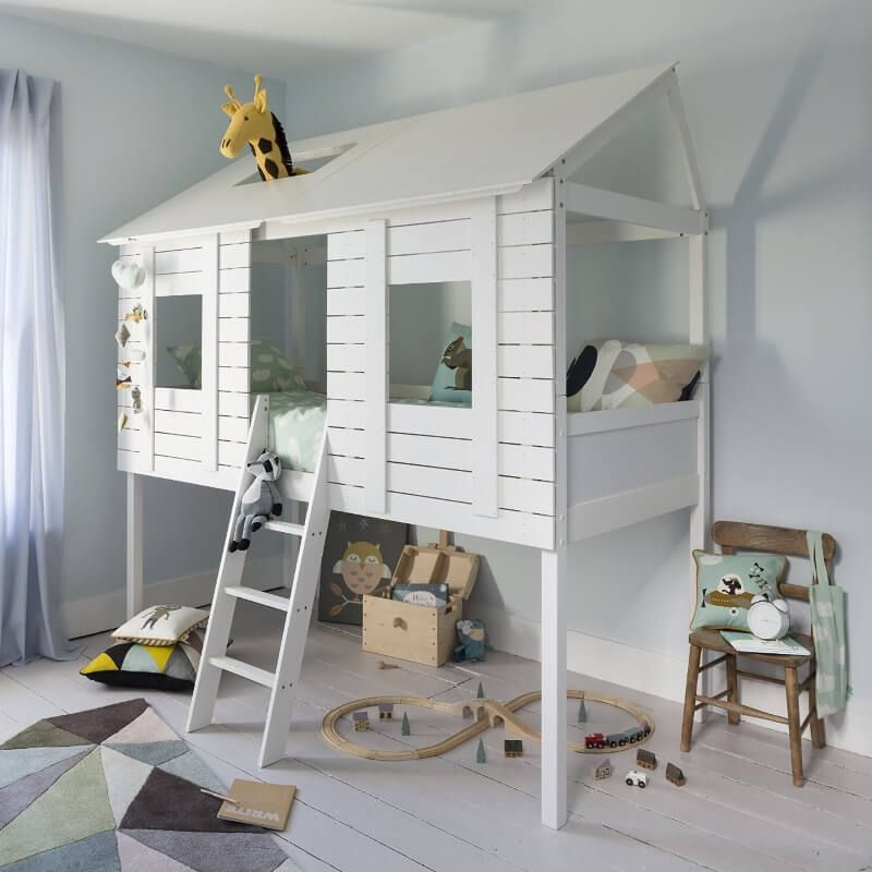 Quirky Kid S Beds Tree House Bed House Beds Mid Sleeper Cabin Bed