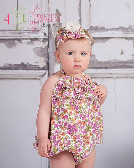 aab4e3a53 Pin by Julia Flores on Ms.Jailynne | Floral romper, Rompers, Flower girl  dresses