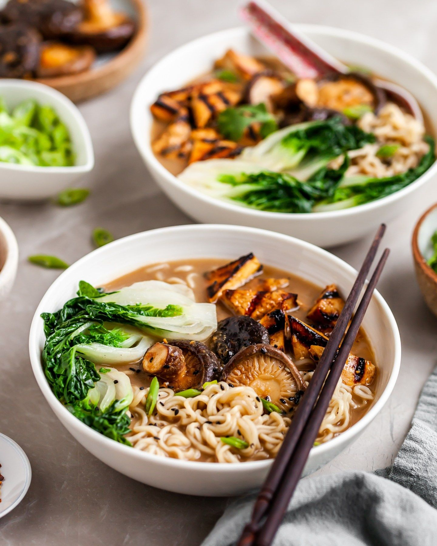 Vegan Mushroom Miso Ramen Crumbs Caramel Recipe Homemade Soup Recipe Recipes Food