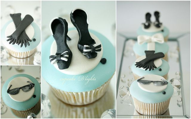 Audrey Hepburn inspired Breakfast at Tiffany's Cupcakes