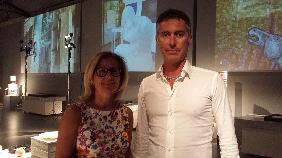 Il Console Generale d'Italia a New York, Natalia Quintavalle insieme a Fabrizio Rovai, Presidente del Consorzio CosMaVe