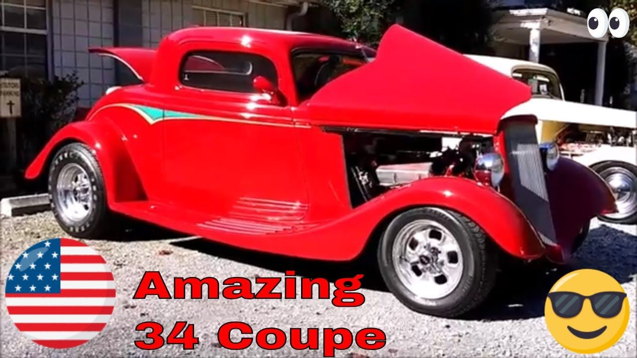 This Is Ronnie Roberts Beautiful 1934 Ford Coupe We Filmed At The Fall Family Fun Day Cruise In And Car Show This Red Be Fall Family Fun Family Fun Day Coupe