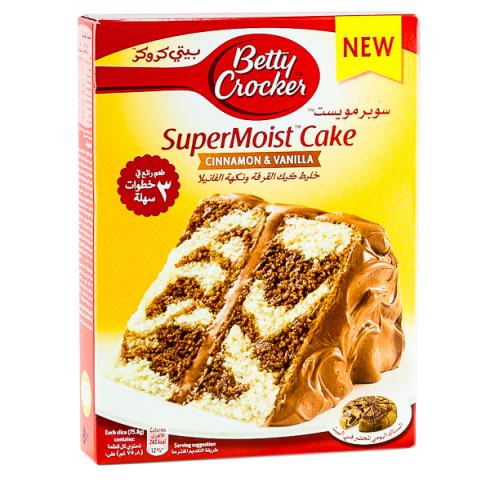 Betty Crocker Super Moist Cake Mix Cinnamon Amp Vanilla 500g Moist Cakes Baking Mixes Cake Mix