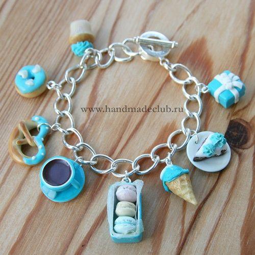 Polymer Clay Charm Bracelet: Polymerclayfimo: ??????? - ??????, ????????,