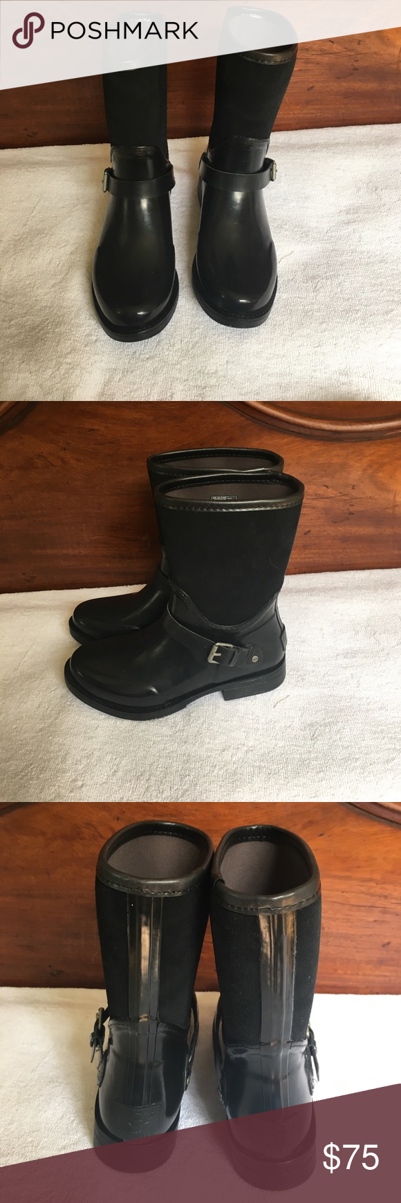 "Women's Sivada Tall Boots NIB, NO trades Rubber and waterproof suede EVA and UGGpure™ wool insole Rubber outsole Waterproof construction 8.5"" shaft height. No trades *** UGG Shoes Winter & Rain Boots"