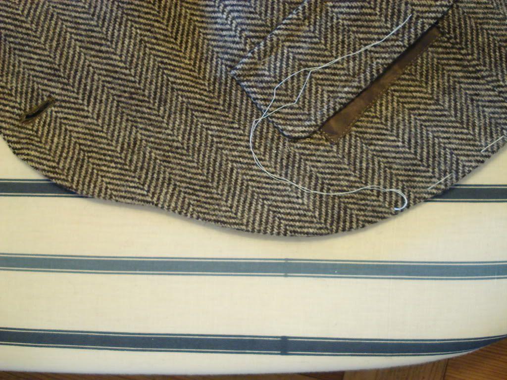 Converting a tweed sport coat to a Braemar jacket