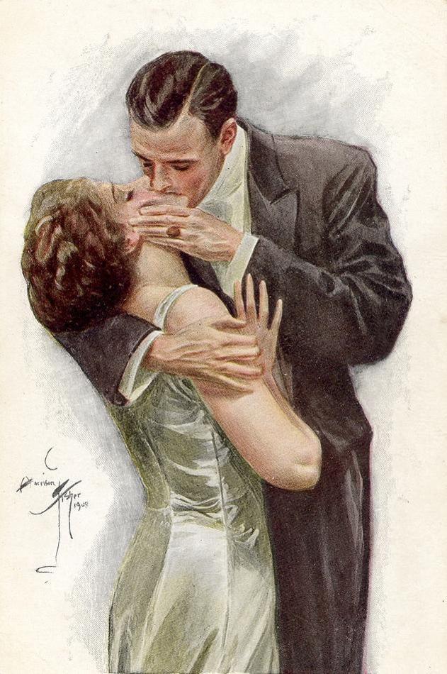 Открытка своими, открытки ретро поцелуй