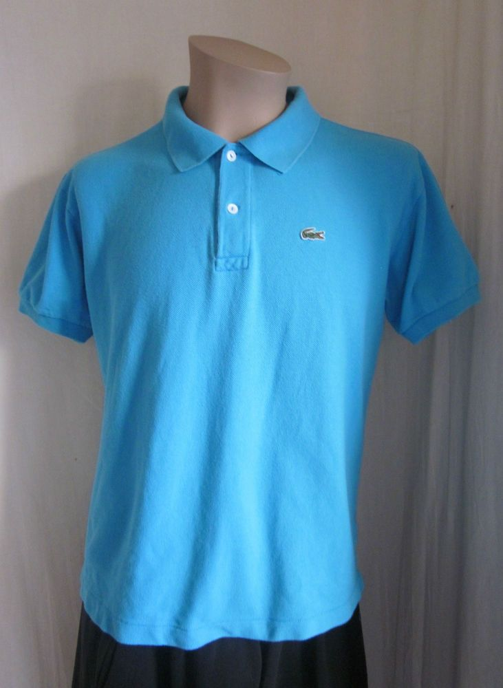 86947fefbd LACOSTE Men's Light Blue Alligator Short Sleeve Polo Shirt Size 4 M Medium # Lacoste #PoloRugby