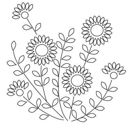 image relating to Free Printable Embroidery Patterns by Hand referred to as Rookie hand embroidery routines Embroiderypatterns Embroidery