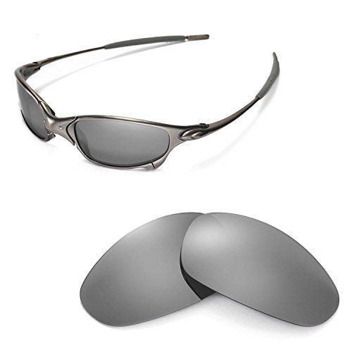 2b6c5c8ad697d Walleva Replacement Lenses for Oakley Juliet Sunglasses Multiple Options  Available Titanium Mirror Coated Polarized     To view further for this  item
