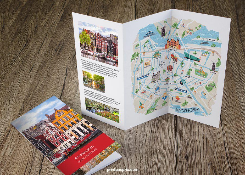 Creer Et Imprimer Une Carte Touristique Toutes Les Etapes Carte Touristique Brochure Touristique Brochure De Voyage