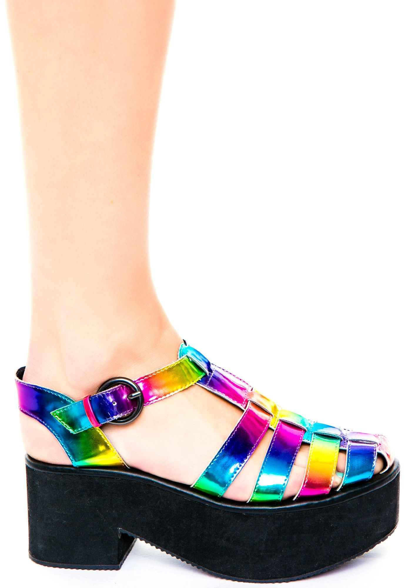 Rainbow Colored Stilettos CRAZEEE Shoes Pinterest