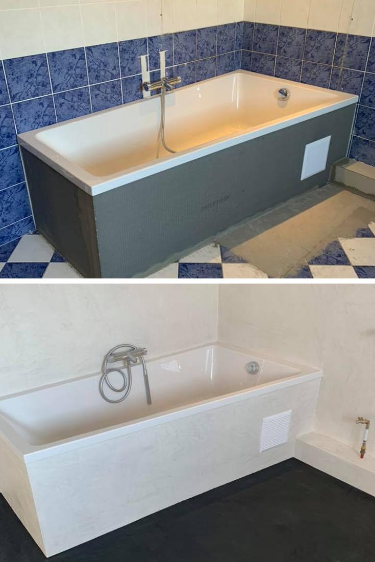 Transformation de salles de bains grâce au béton ciré  Salle de