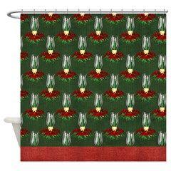 Christmas Lantern Holiday Shower Curtain 1> Christmas Holiday> MarloDee Designs Shower Curtains