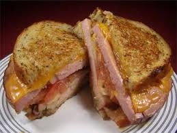 Grilled Cheese  Ham. LOVE Grilled Cheese!!!