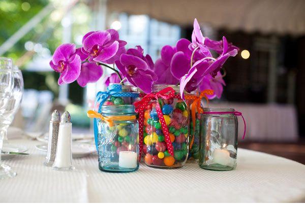 Jar Centerpieces Vintage Carnival Wedding Candy Bubblegum Decor